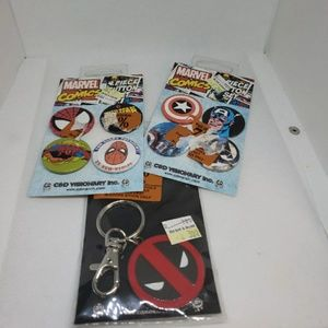 Marvel pins and keychain